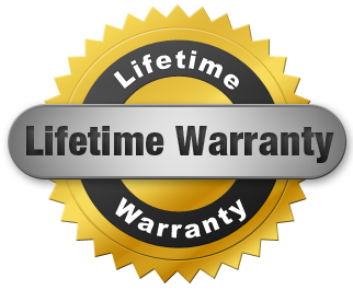 LIFETIME WARRANTY LOGO GOLD SEA